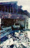 An east Carson structure fire destroyed a large portion of a home across the street from Eagle Valley Middle School on June 12, 2001.  The home was engulfed in flames by 3:33 a.m., according to the Fire Department.  Photo credit/Rick Gunn Nevada Appeal.