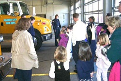 Fire station tours are a great learning experience for the children! CCFD photo.