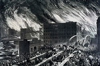 Illustration of the Great Chicago Fire of 1871