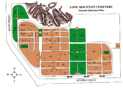 Historical Sites Cemetery Map