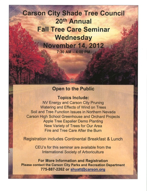 2012 Fall Tree Care Seminar Flyer