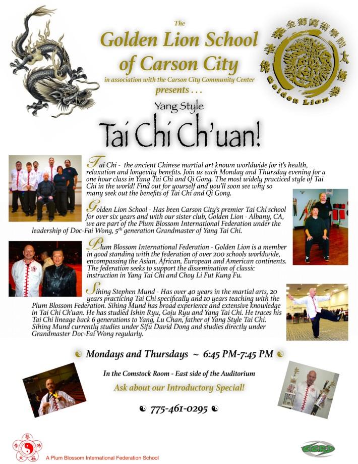 Golden Lion Tai Chi C'haun & Qigong | Carson City