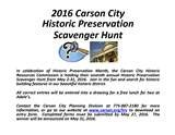 Historic Preservation Scavenger Hunt