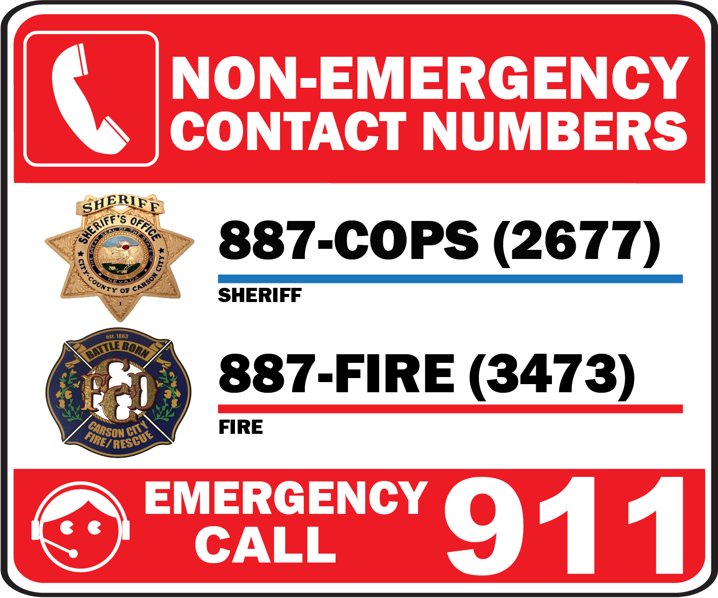 NON EMERGENCY PHONE NUMBERS
