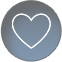 Heart Icon blue circle
