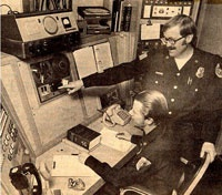 Dispatch in days gone by!  Firefighters doubled up as dispatchers on a rotating basis!