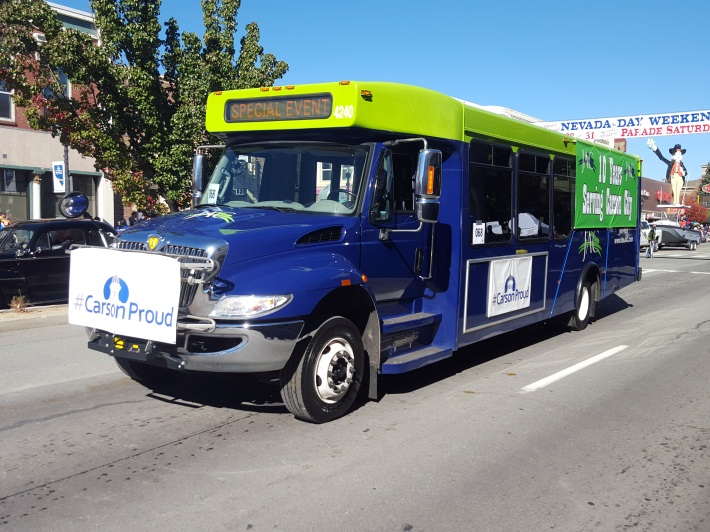 JAC bus in 2015 Nevada Day Parade