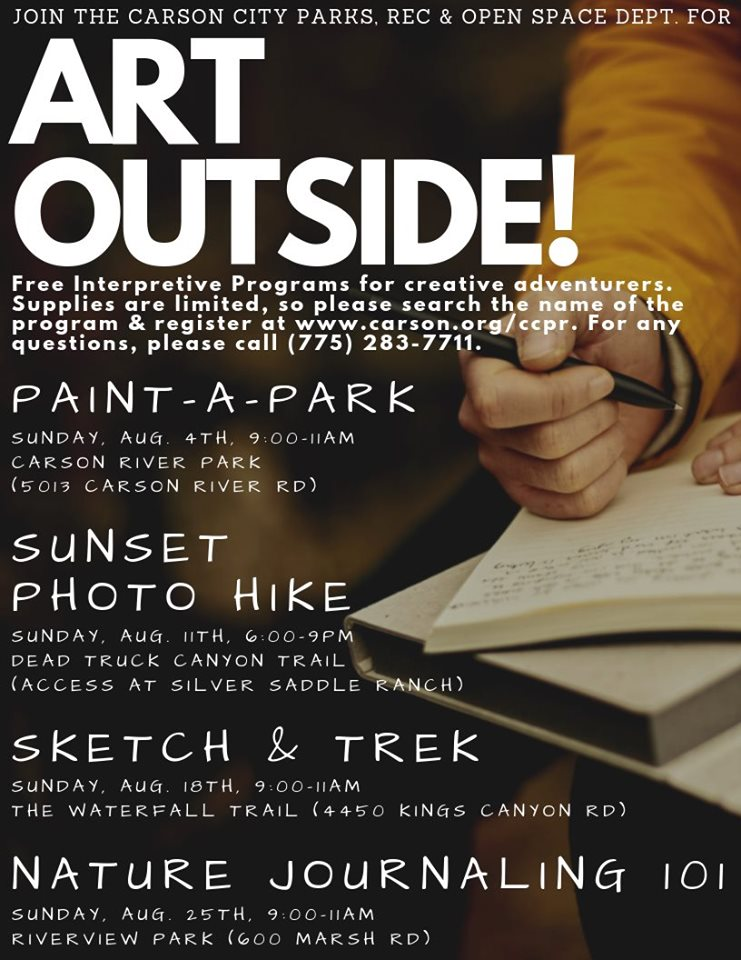 Poster for Art Outside activities!