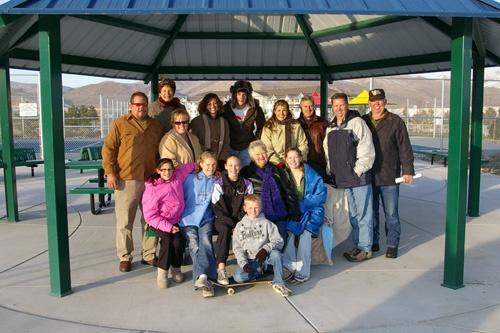 Mankins Family at Pavilion