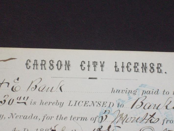 Business License Division Carson City